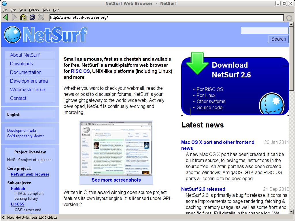 windows netsurf