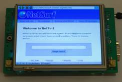 Photo of NetSurf running on a Simtec DePicture.