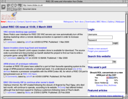 Screenshot of an ancient NetSurf version.